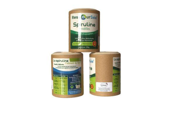 Pack de trois produits de spiruline de Normandie RessourSée