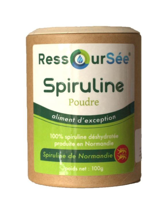 Boîte de poudre spiruline RessourSée